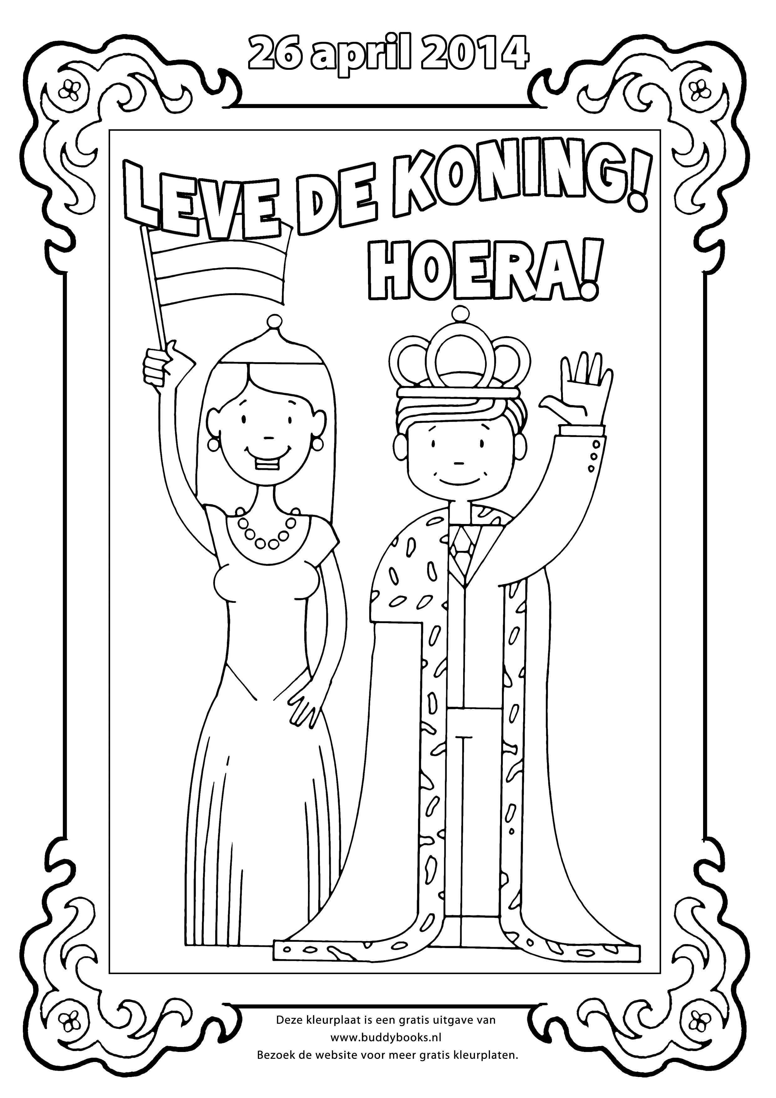 Coloring Dutch Koningsdag Met Afbeeldingen Kleurplaten
