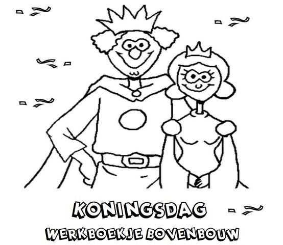 Koningsdag Werboekje Bovenbouw School Teaching Kindergarten