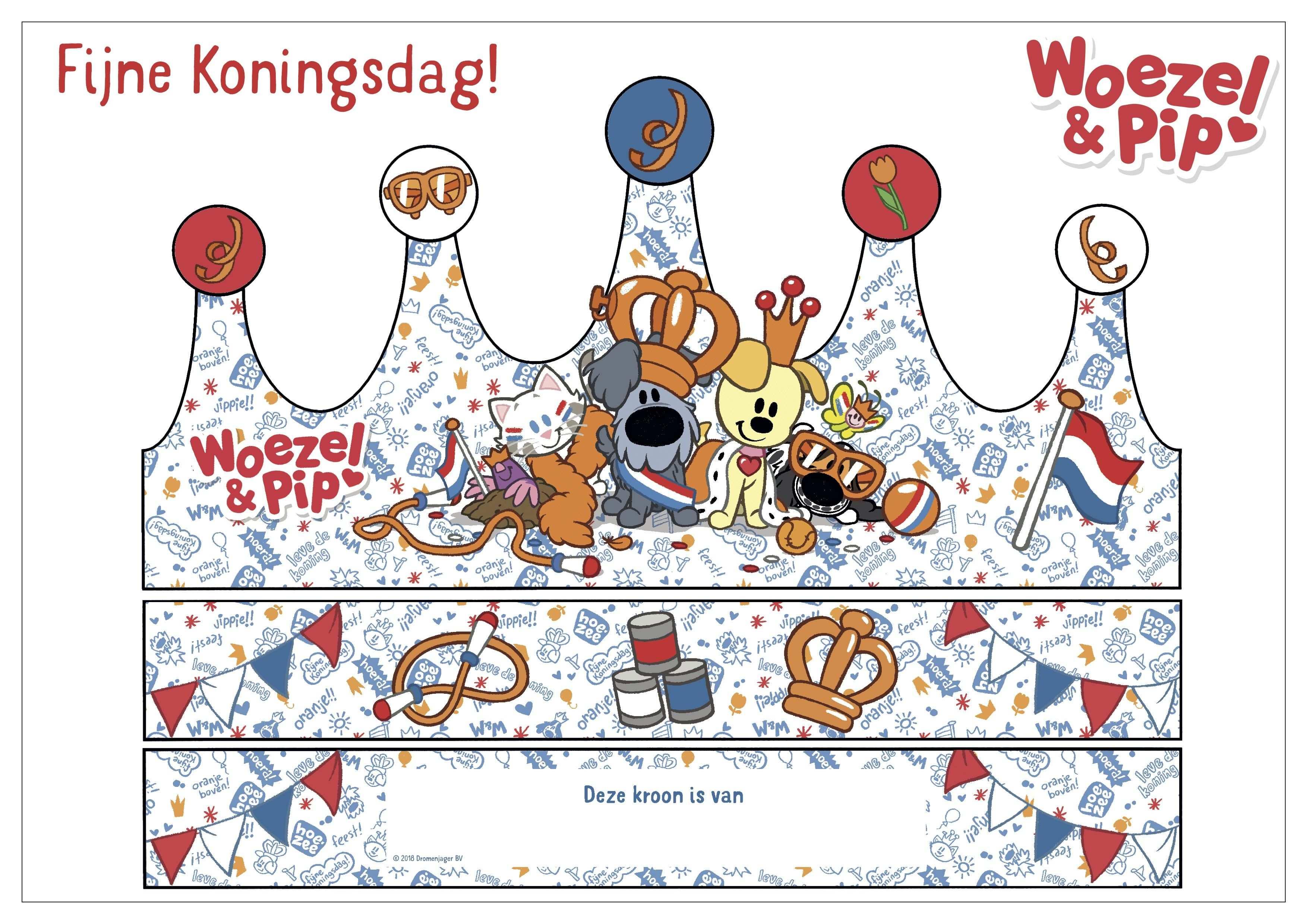 Woezel Pip Koningsdag Kroon Knutselplaat Met Afbeeldingen