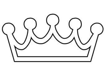 Coloring Page Crown Kleurplaten Kroon Tekening Prinses