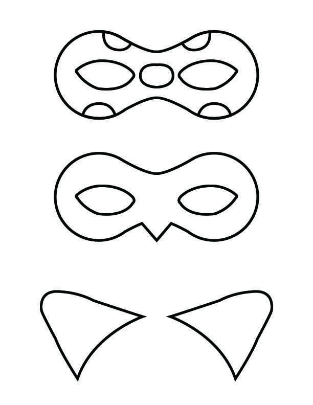 Coloring Page Miraculous Tales Of Ladybug And Cat Noir Masks Met