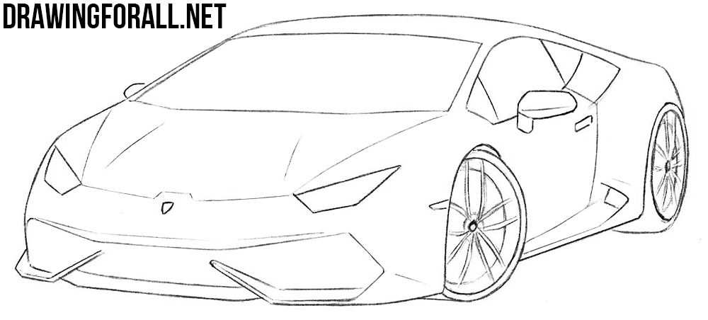 How To Draw A Sports Car Step By Step In 2020 Auto Tekeningen