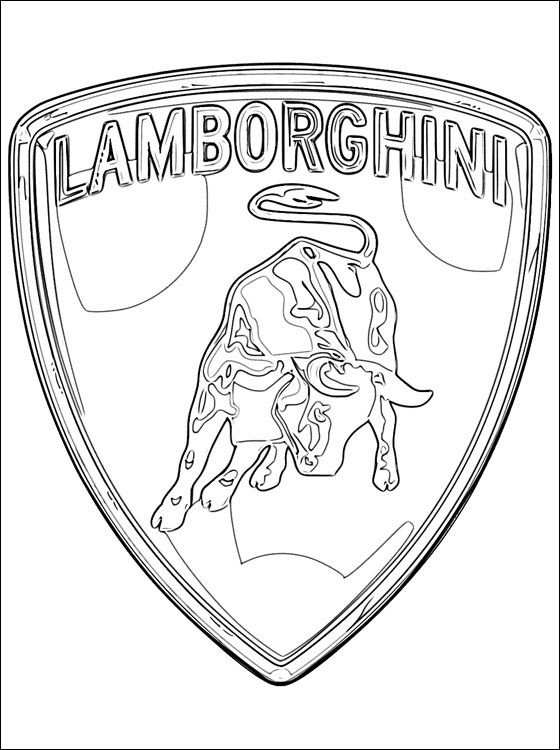 Lamborghini Logo Coloring Pages Coloring Pages Cars Coloring