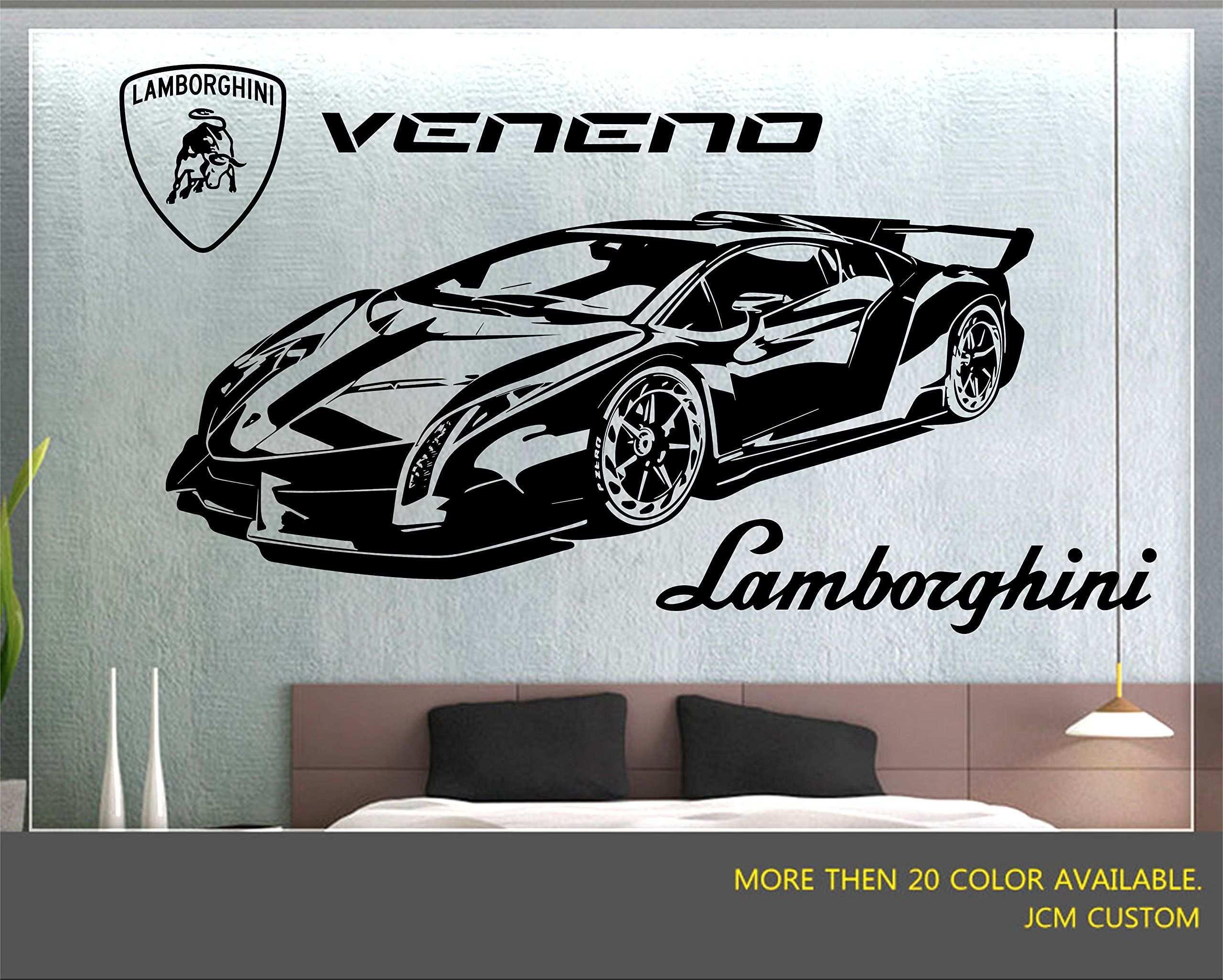 Lamborghini Veneno Lr 750 4 Racing Sport Car Wall Decal 52 X 22