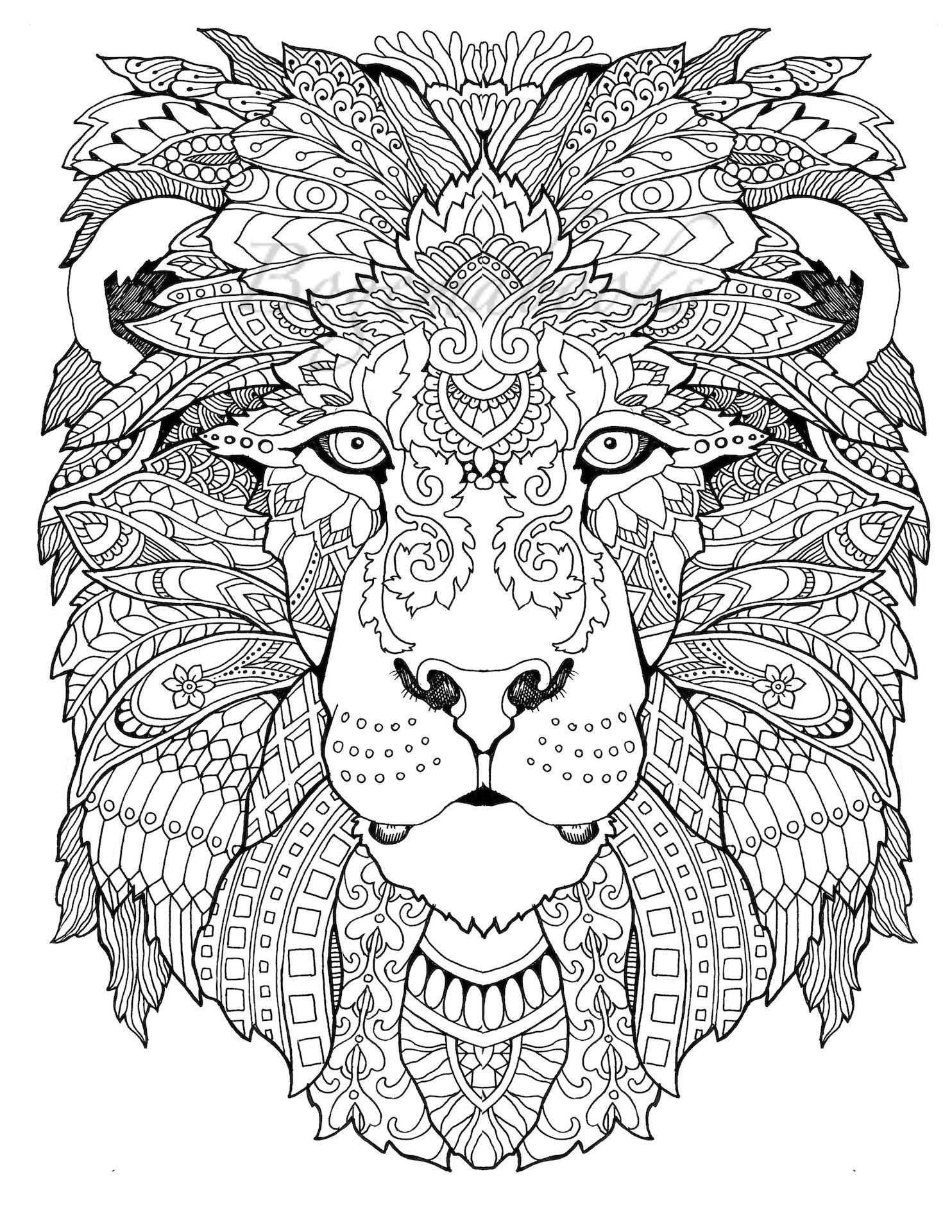 Awesome Animals Adult Coloring Book Coloring Pages Pdf Met