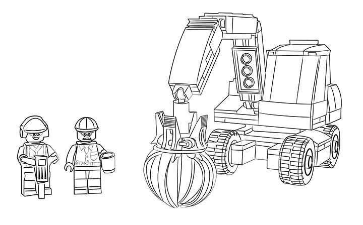 Lego Coloring Page 60075 Excavator And Truck Mit Bildern