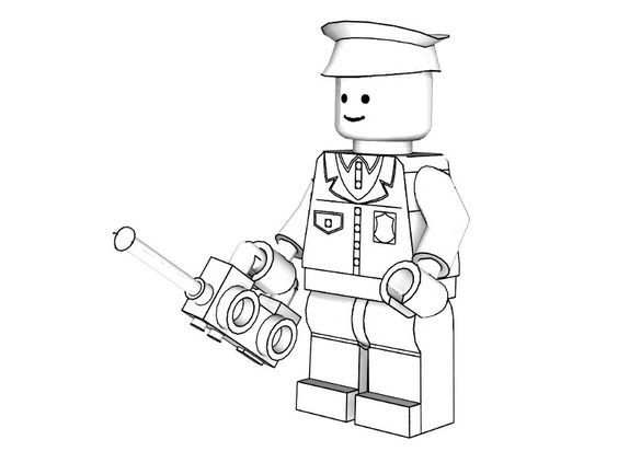 Police Coloring Pages To Print 3d Lego Models Colouring Lego
