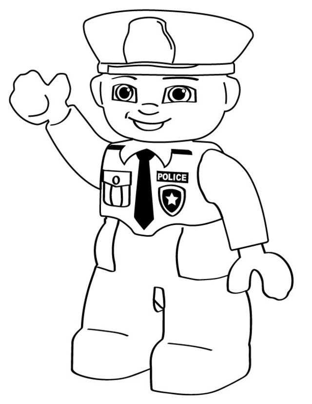 Lego Police Person Free Printable Coloring Pages Lego