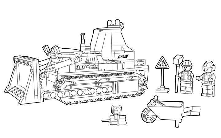 Lego Coloring Page 60074 Bulldozer Lego Coloring Pages Lego