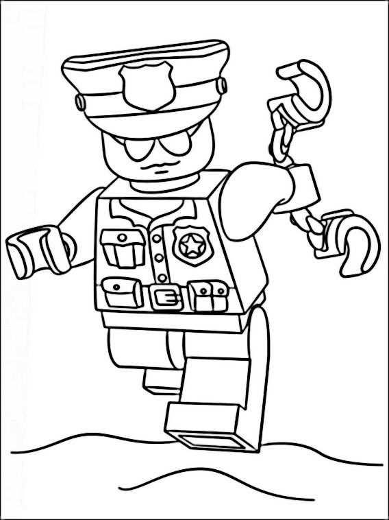 Lego Police Coloring Pages 9 Met Afbeeldingen Lego Kleurplaten