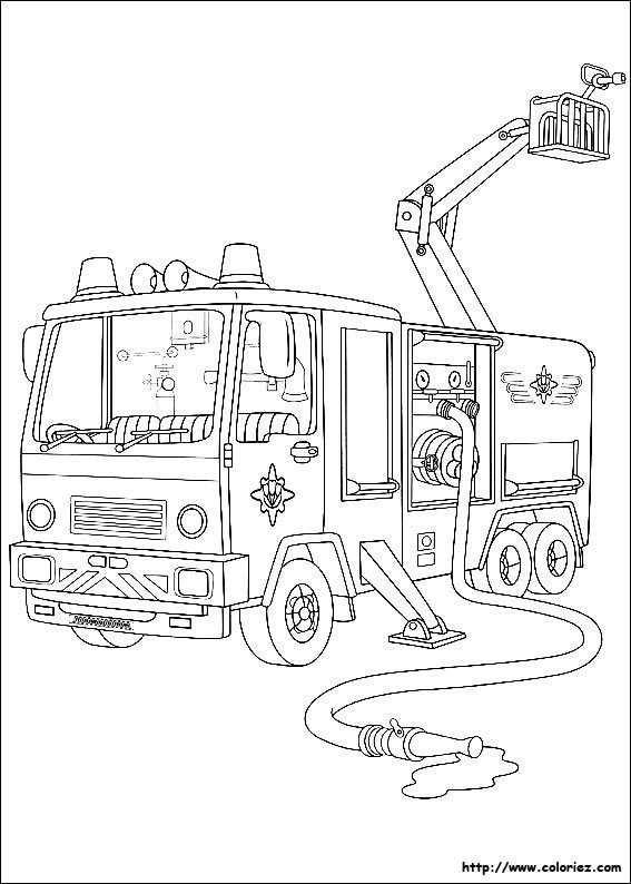 Coloriage Sam Le Pompier Jupiter Firetruck Coloring Page
