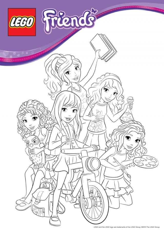 Coloring Pages With Images Lego Friends Birthday Party Lego