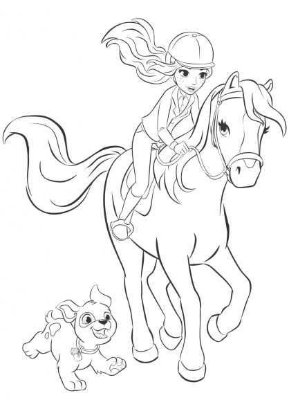 Lego Friends Mia Coloring Pages Horse Coloring Pages Lego