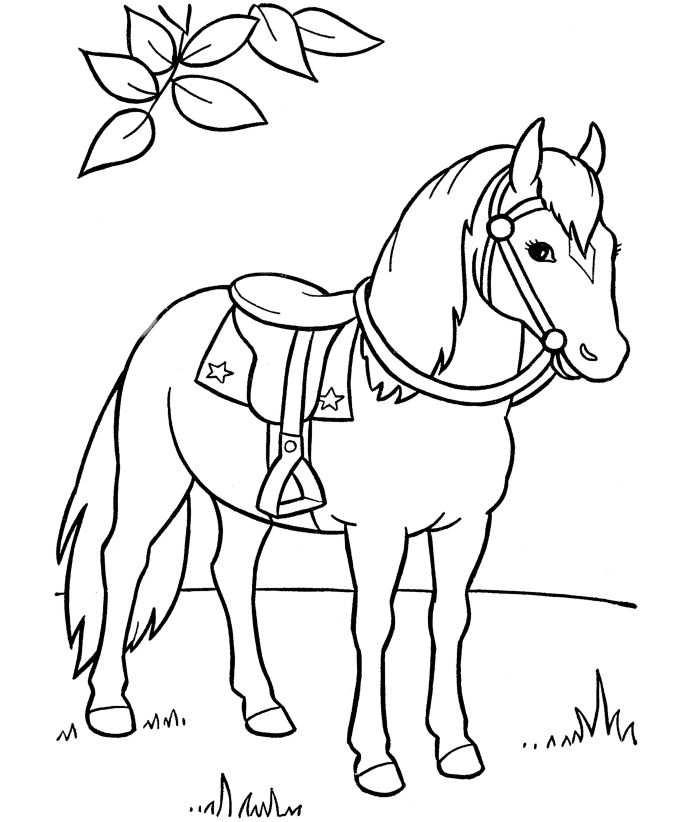 Horse Coloring Pages Preschool And Kindergarten Kleurplaten