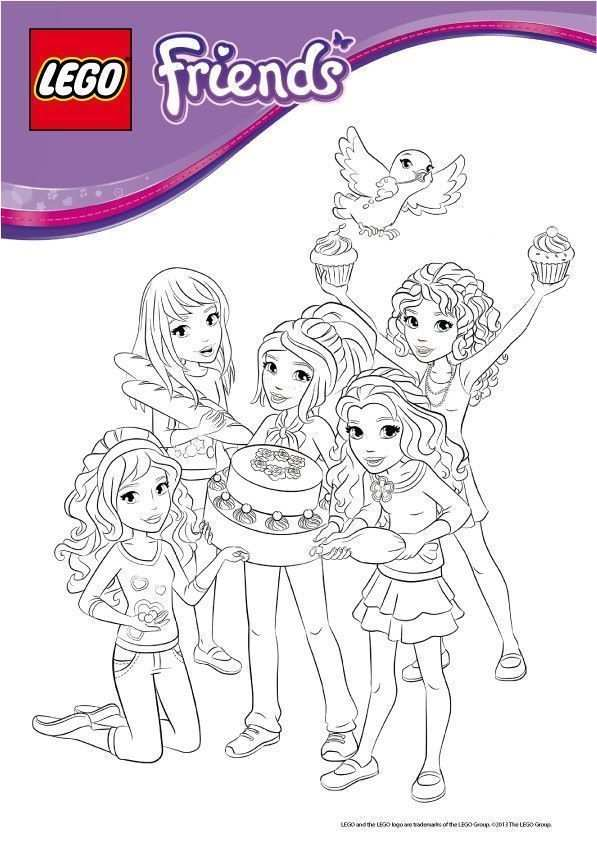 Coloriage Lego Friends A Imprimer With Images Lego Friends