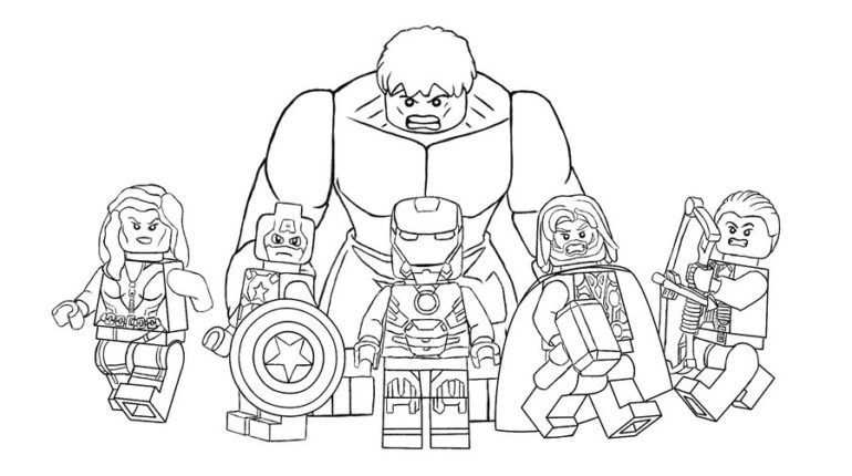 Lego Avengers Coloring Pages With Images Lego Coloring Pages
