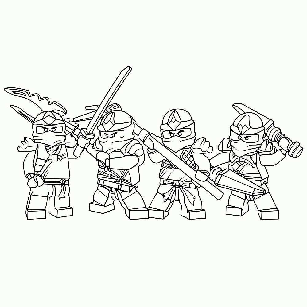 Stoere Lego Ninjago Kleurplaten Leuk Voor Kids Nieuwe Ninja