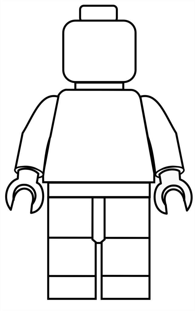Lego Mini Fig Drawing Template With Images Lego Printables