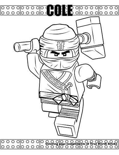 kleurplaat lego ninjago cole