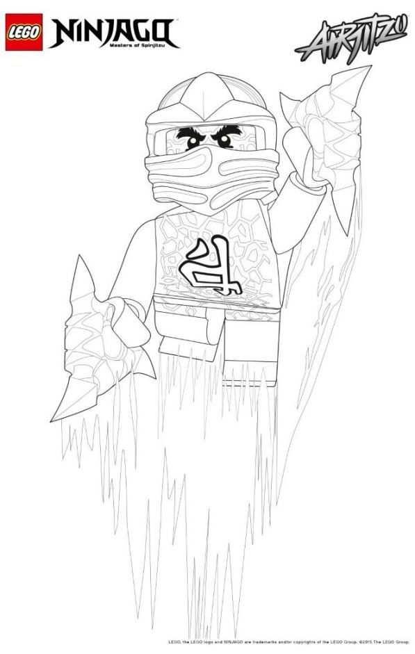 Kleurplaat Lego Ninjago Draak