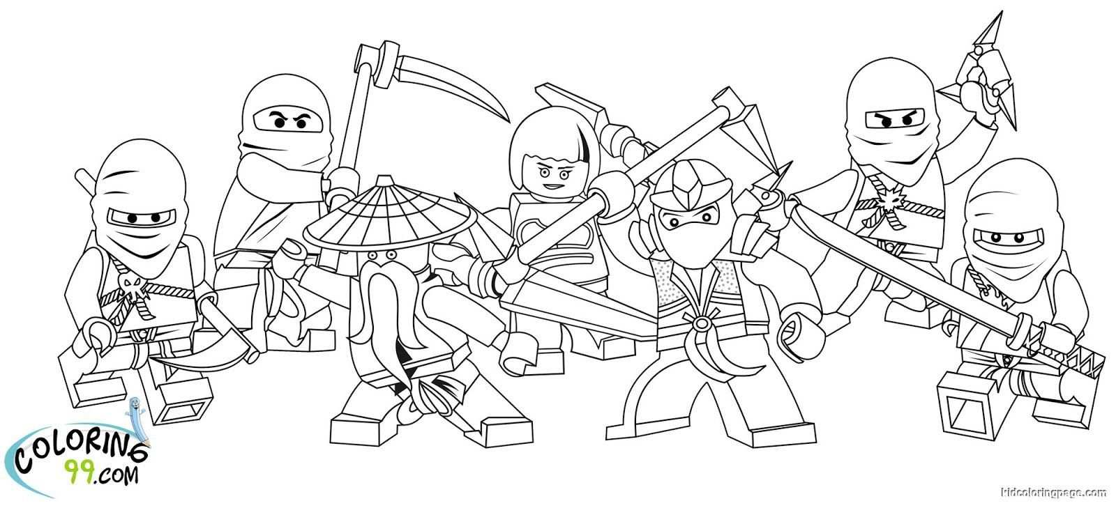 Lego Ninjago Team Coloring Pages With Images Darmowe