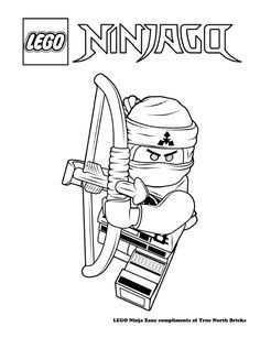 Coloring Page Ninja Zane Met Afbeeldingen Lego Kleurplaten