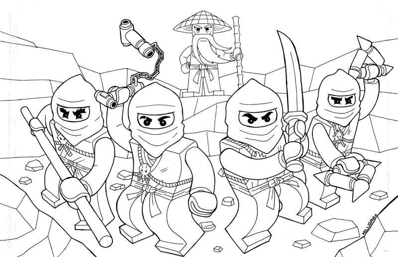 Lego Ninjago Coloring Pages Coloring Pages Kleurplaten Lego