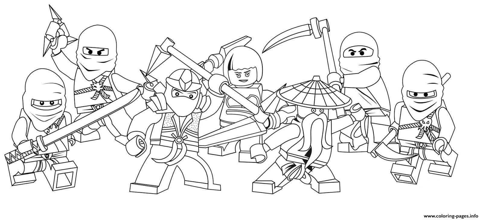 Print Characters Of Ninjago Secc8 Coloring Pages Kleurplaten