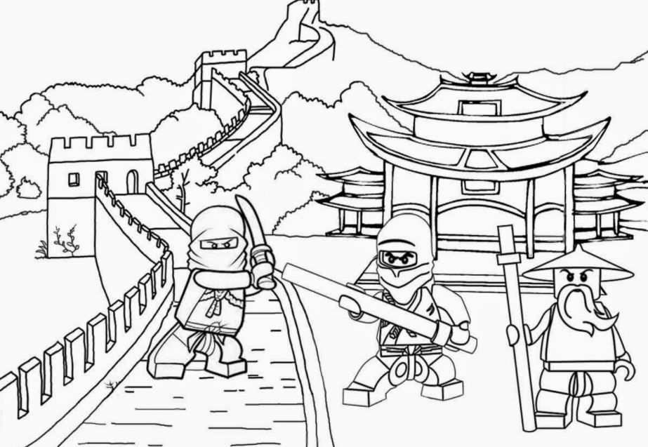 Coloring Page Base With Images Ninjago Coloring Pages Lego
