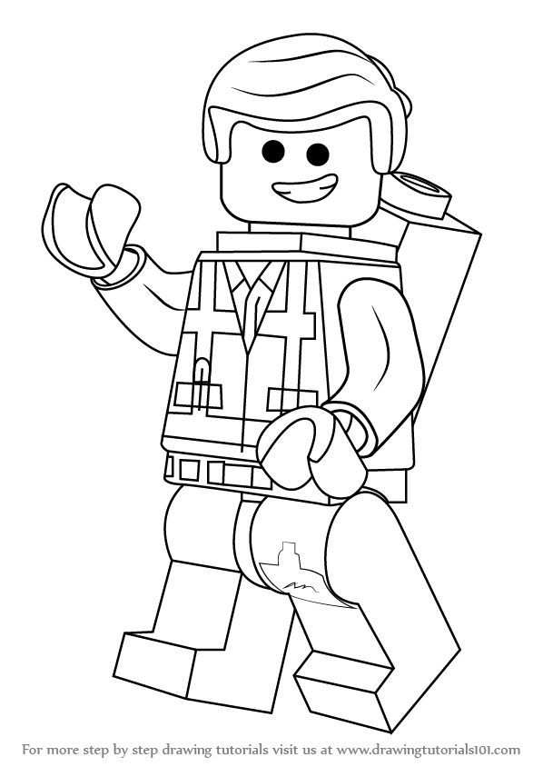 Learn How To Draw Emmet Brickowski From The Lego Movie The Lego