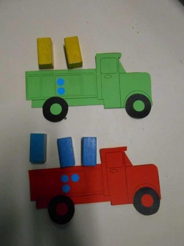 Leg Het Juiste Aantal Blokken In De Vrachtwagen Thema