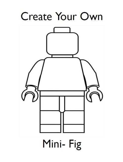 Draw Your Own Lego Minifigures Lego Kleurplaten Lego Poppetje