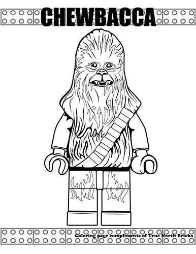 Kleurplaat Lego Star Wars