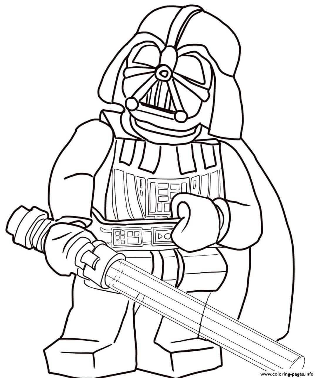 Print Lego Star Wars Darth Vader Coloring Pages Kleurplaten
