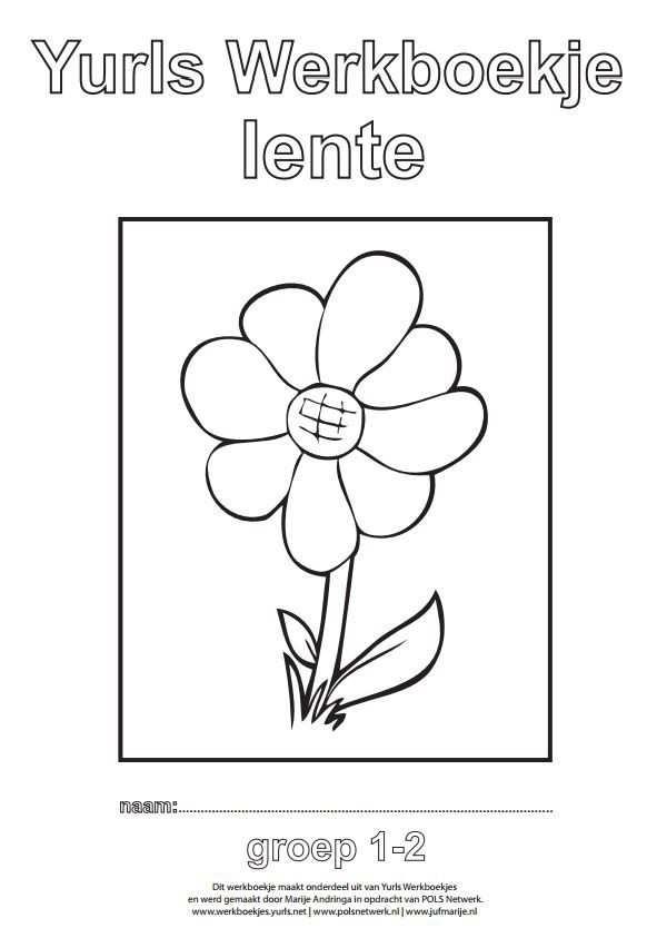 Yurls Werkboekje Lente Thema Knutselen Lente Kleurplaten