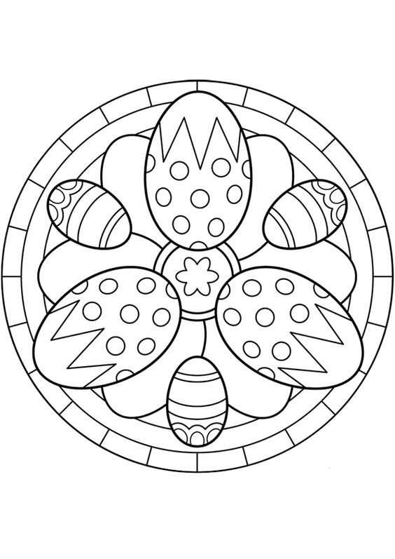 Kleurplaat Mandala Kleurplaten 5258 Paaseieren Mandala