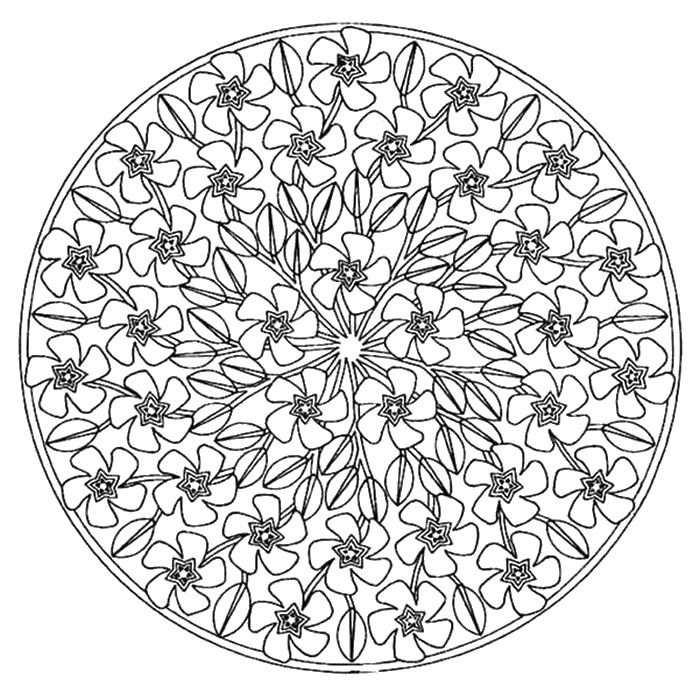 Adult Coloring Page Spring Met Afbeeldingen Mandala S Mandala