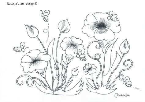 Lente Bloemen Art Design Art Flower Designs