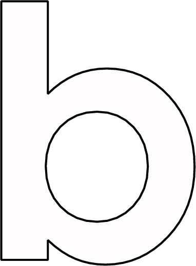 Kleurplaat Letter B Alfabet Knutselen