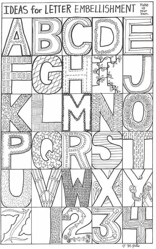 Letters En Cijfers Kleurplaten Blokletters Kunstlessen