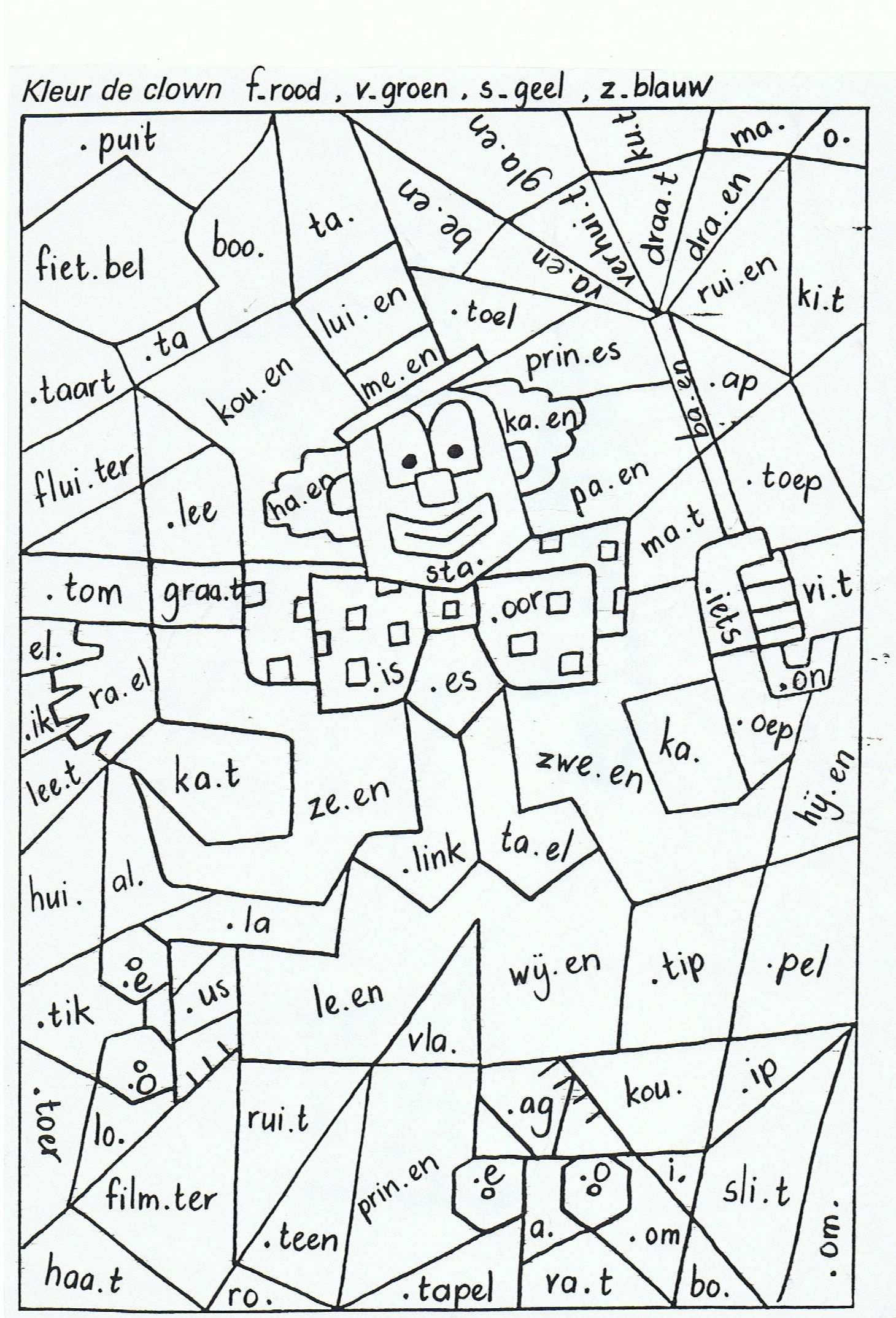 Vul De Goede Letter In En Kleur Leren Spellen Spellingsregels