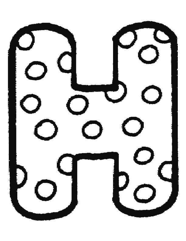 Kleurplaat Letter H Alfabet Kleurplaten Kleurplaten Brief