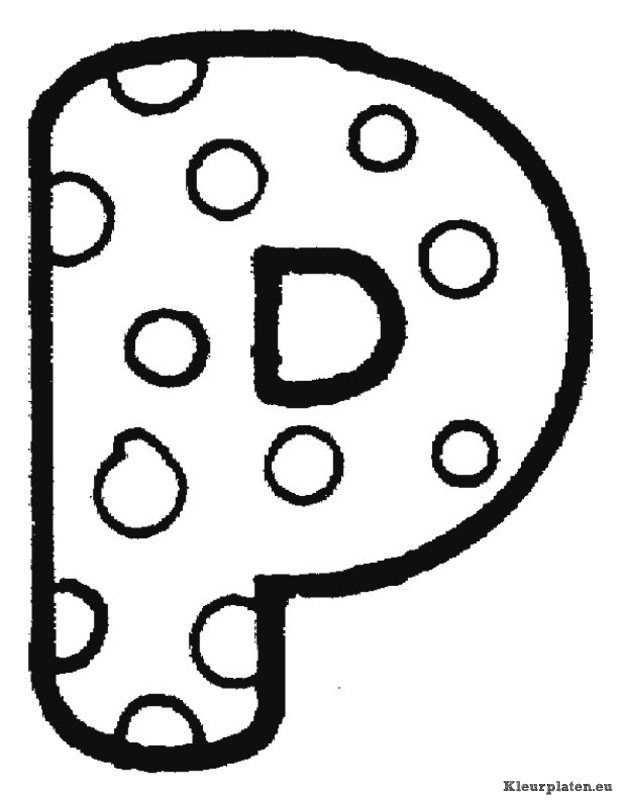 Alfabet Kleurplaten Con Imagenes Letras Mayusculas Para