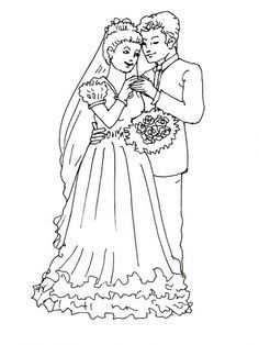 Trouwen Kleurplaat Google Search Thema Bruiloften Kleurplaten