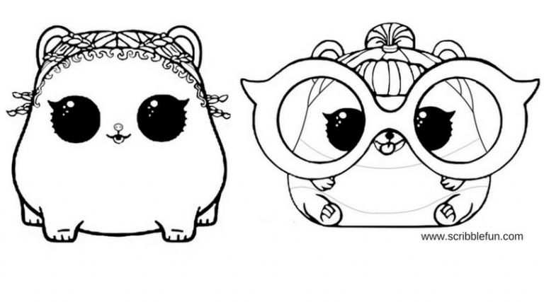 Free Printable Lol Surprise Pets Coloring Pages Cute Coloring