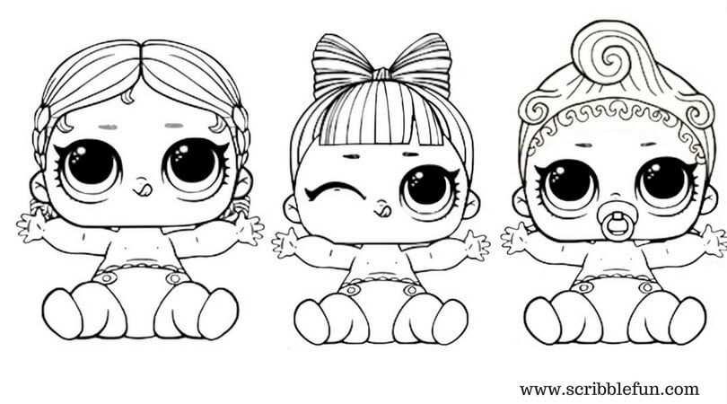 40 Free Printable Lol Surprise Dolls Coloring Pages Met