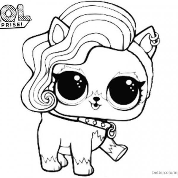 Mermaid Lol Surprise Doll Coloring Pages Merbaby Unicorn