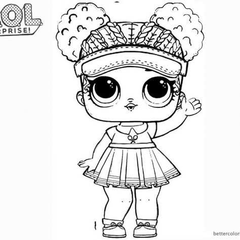 Lol Surprise Doll Coloring Pages Dollface With Images Coloring