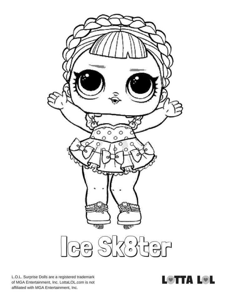 Ice Sk8ter Malvorlagen Lotta Lol Lol Surprise Series 2 Coloring
