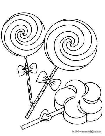 Big Lollipops Coloring Page Hellokids Com Imagens Doces